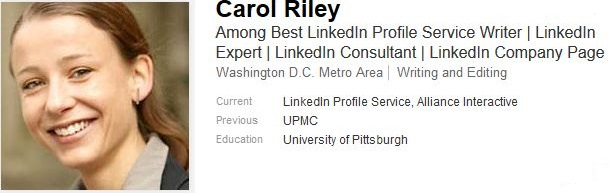 great linkedin profile example