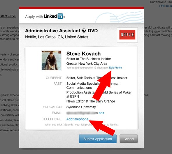 how to use the apply with linkedin tool
