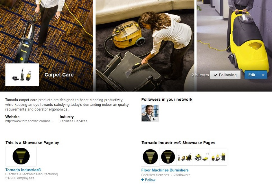 Linkedin-Showcase-page-example