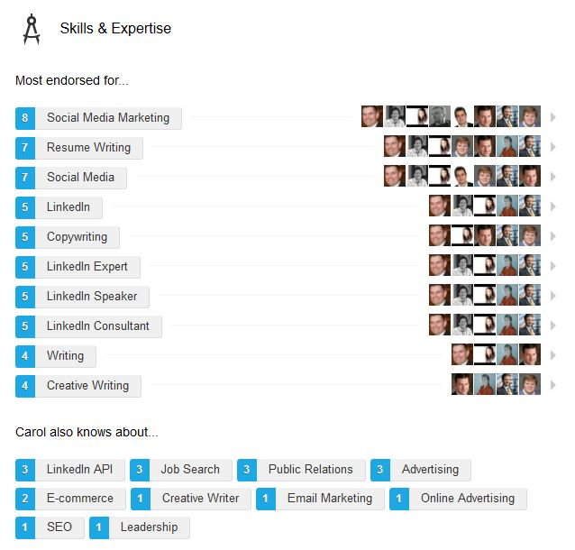skills on linkedin examples