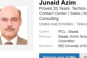 good linkedin profile example Pakistan uae india