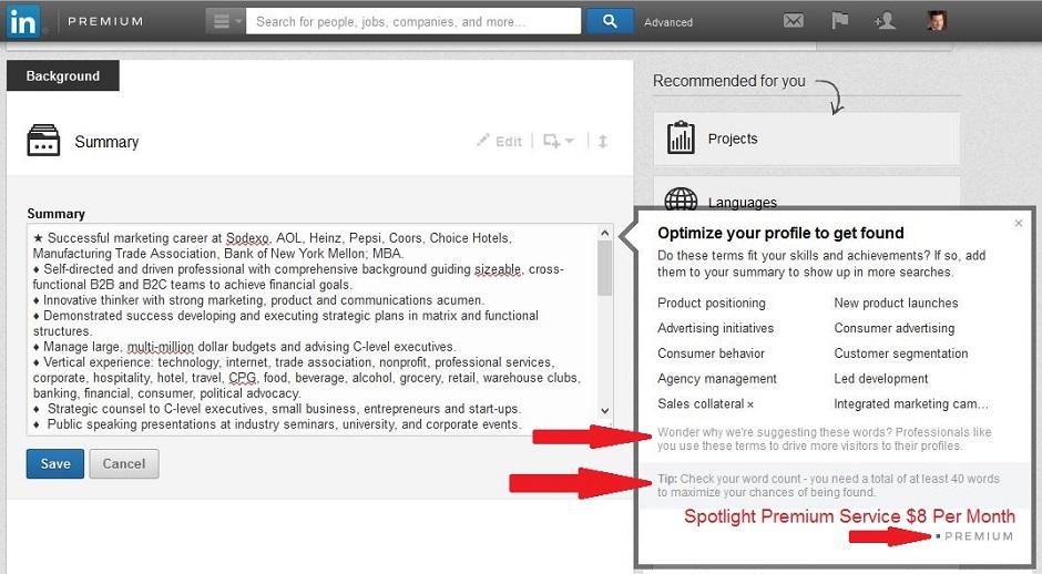 LinkedIn keyword suggestion tool