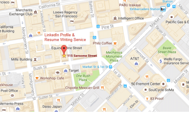 san francisco's LinkedIn Profile & Resume Writing Services map