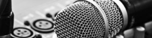 recording microphone linkedin background image