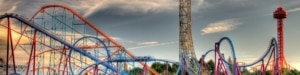 roller coaster amusement park linkedin background image