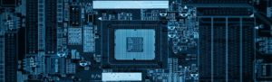 Tech Circuit Board Linkedin background image