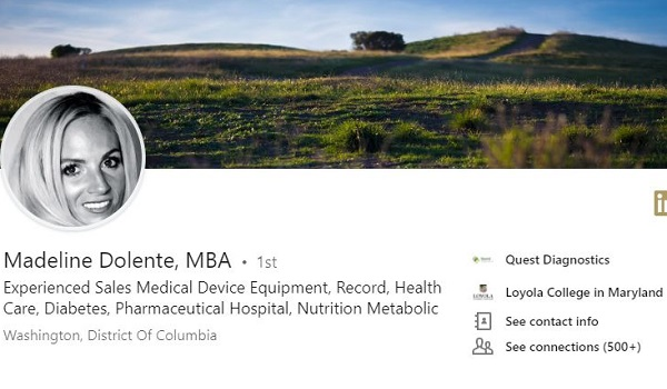 linkedin profile example medical device sales
