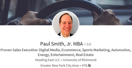 linkedin profile example auto advertising sales