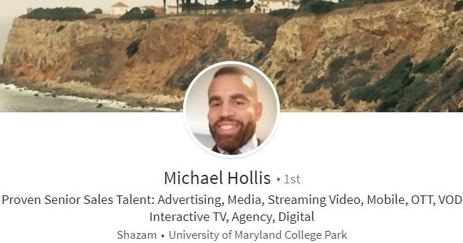 Sample Linkedin profile summary digital media advertising