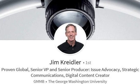 LinkedIn profile summary example - communications public relations