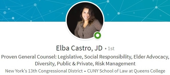 Sample Linkedin profile summary example government affairs