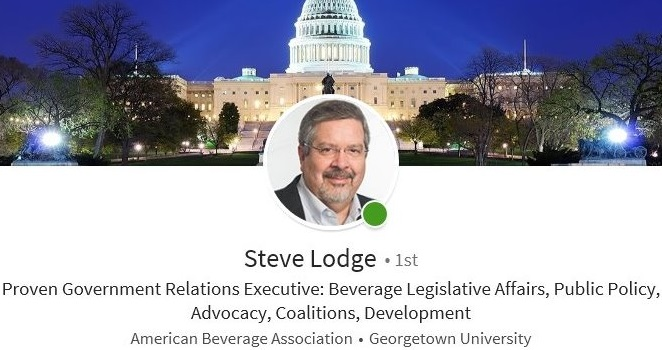LinkedIn headline government relations lobbyist steve