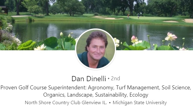 sample linkedin headline example golf landscape