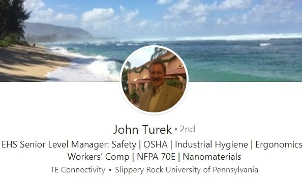 sample linkedin profile example Environmental safety