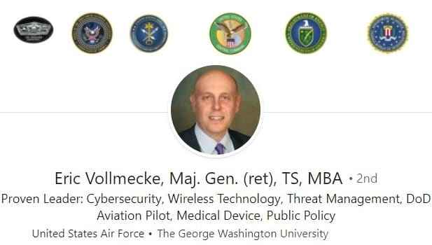 LinkedIn profile example - military