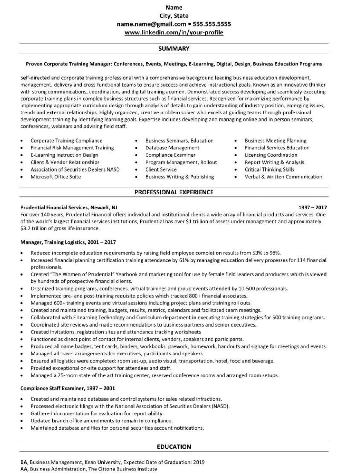 Professional executive resume example Insurance Agent 1709