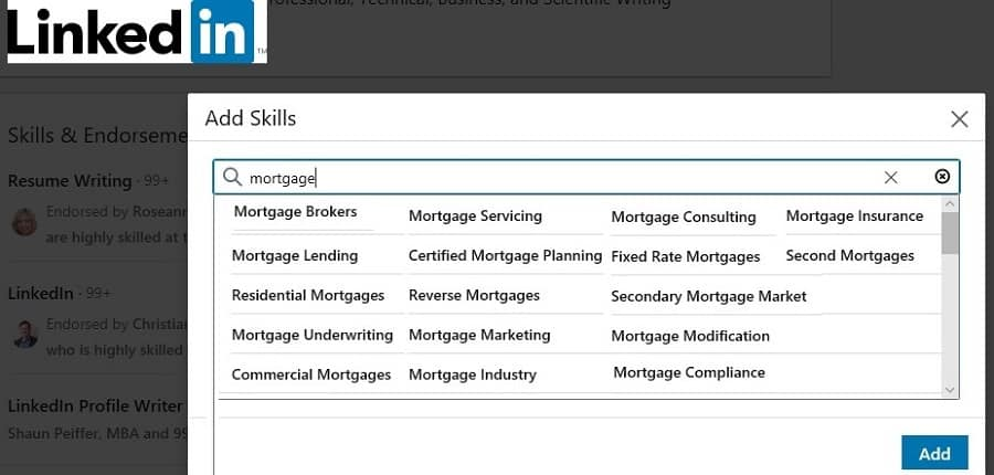 mortgage skills  on Linkedin