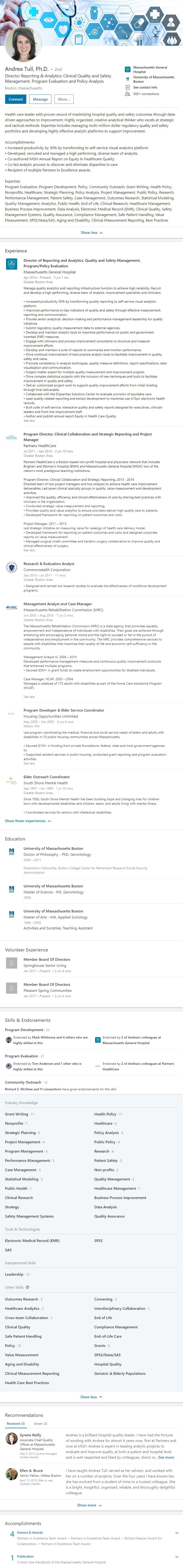 Linkedin profile example human resource consulting