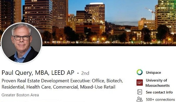 Sample Linkedin profile summary example Commercial real estate