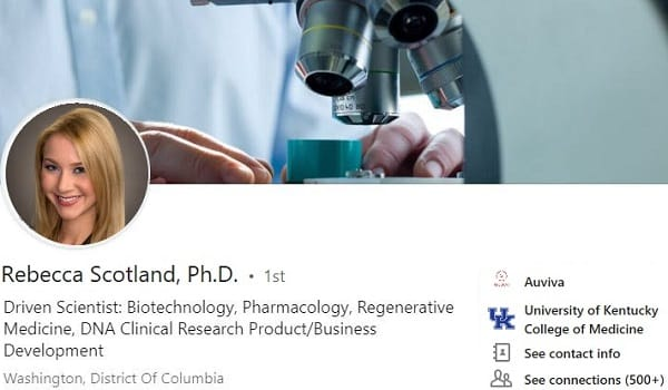 Sample Linkedin profile summary example biotechnology clinical research