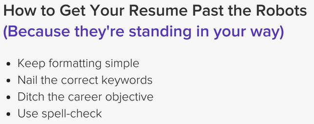 tips for resume past ATS software