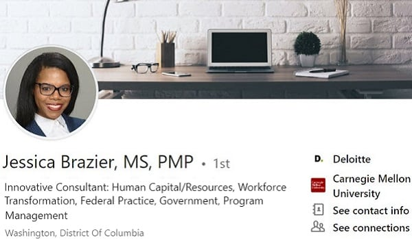 sample Linkedin profile example human resource consulting