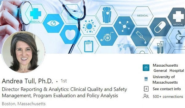 sample Linkedin profile summary example health care program quality metrics