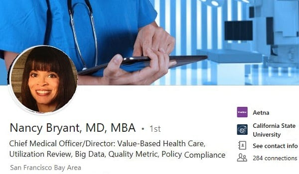 sample Linkedin-profile summary example health care doctor