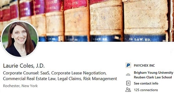 sample linkedin profile summary example corporate counsel real estate law