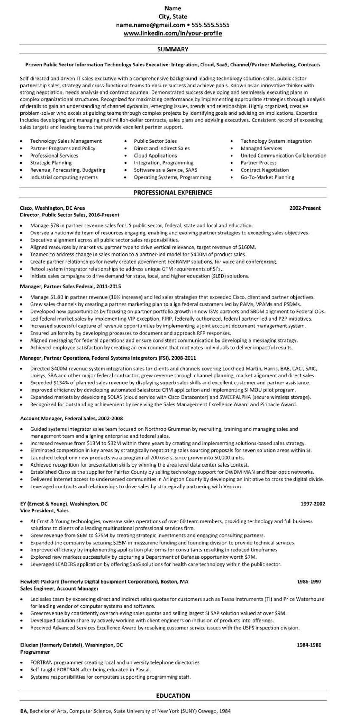Resume 1818