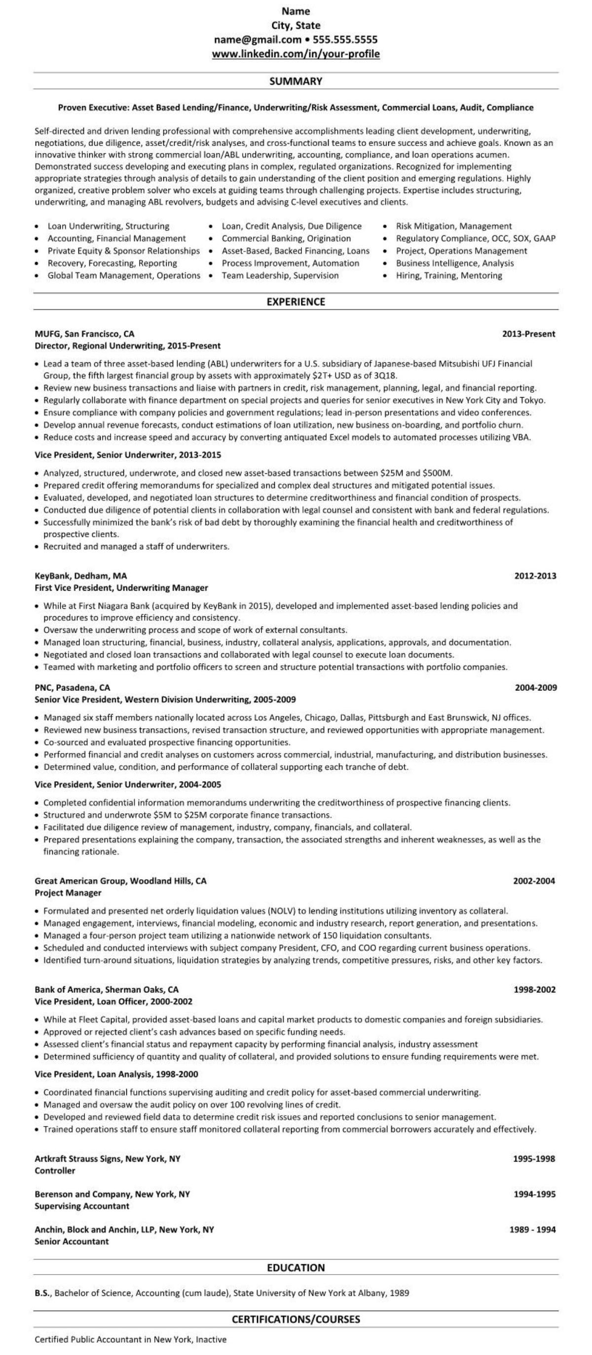 Mortgage Broker Banking Resume 2366