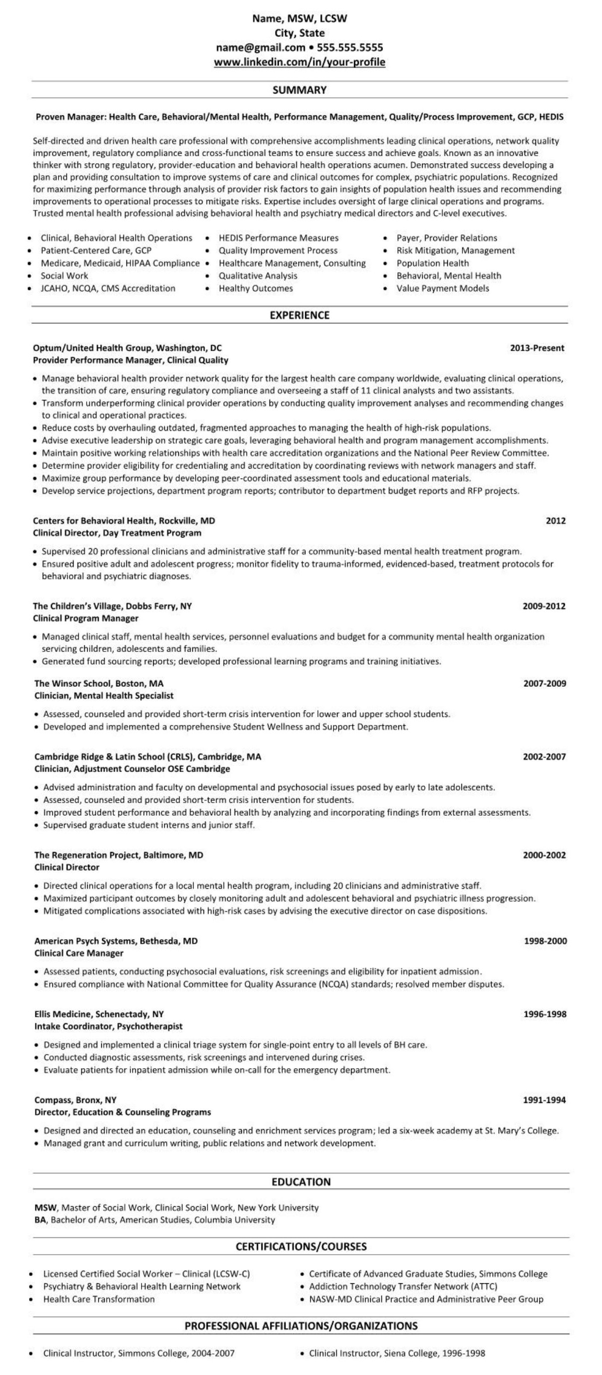 Professional executive resume example behavior health physician quality 2543
