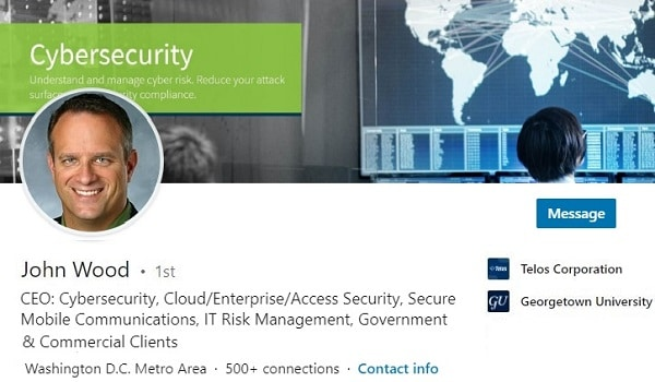 Sample Linkedin Profile Summary Example Technology Cybersecurity Ceo 1800
