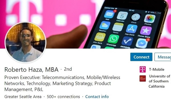Sample Linkedin Profile Summary Example Wireless Telecommunications 2647 600x350