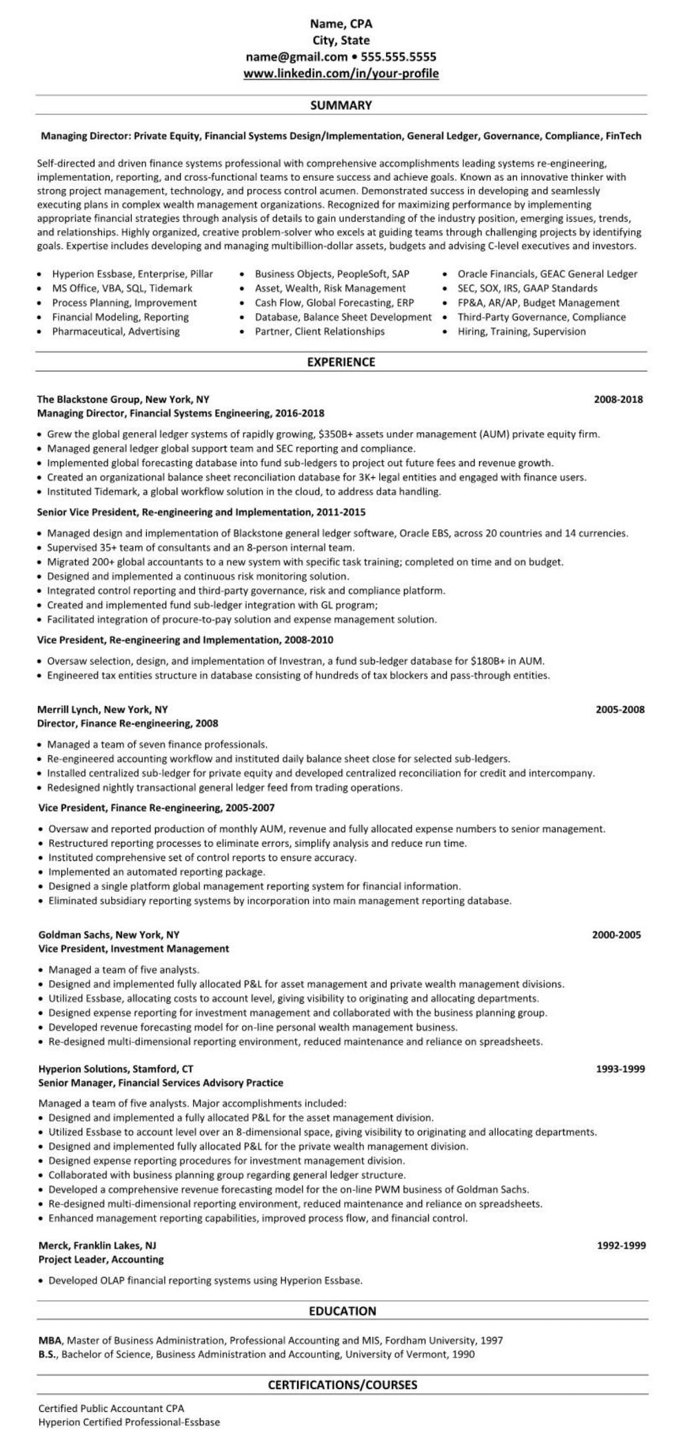 Venture Capittal VC Private Equity Resume Example 2255