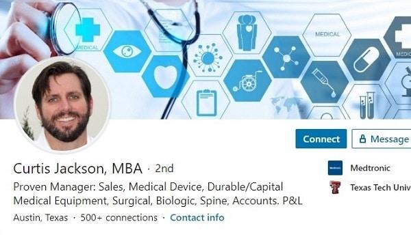 Sample Linkedin Profile Summary Medical Equipment Sales 2534 600x350