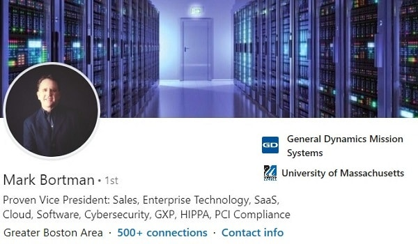 Sample Linkedin Profile Summary Headline Example Technology Cybersecurity 1907