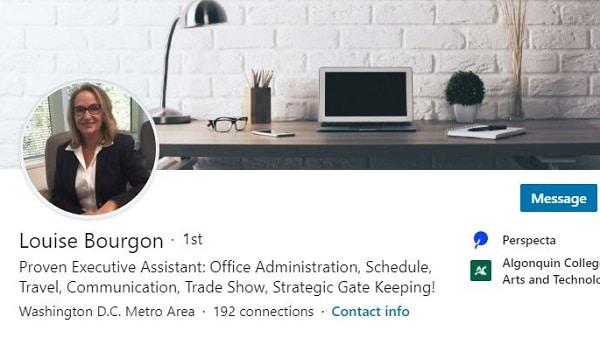 linkedin profile resume example administrative executive