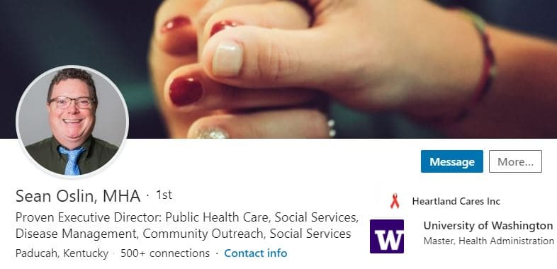 Sample Linkedin Profile Summary Headline Example Public Health Care, Social Services, Disease 1811 600x350