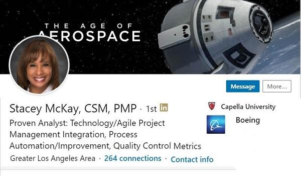 linkedin profile resume example aerospace satellite
