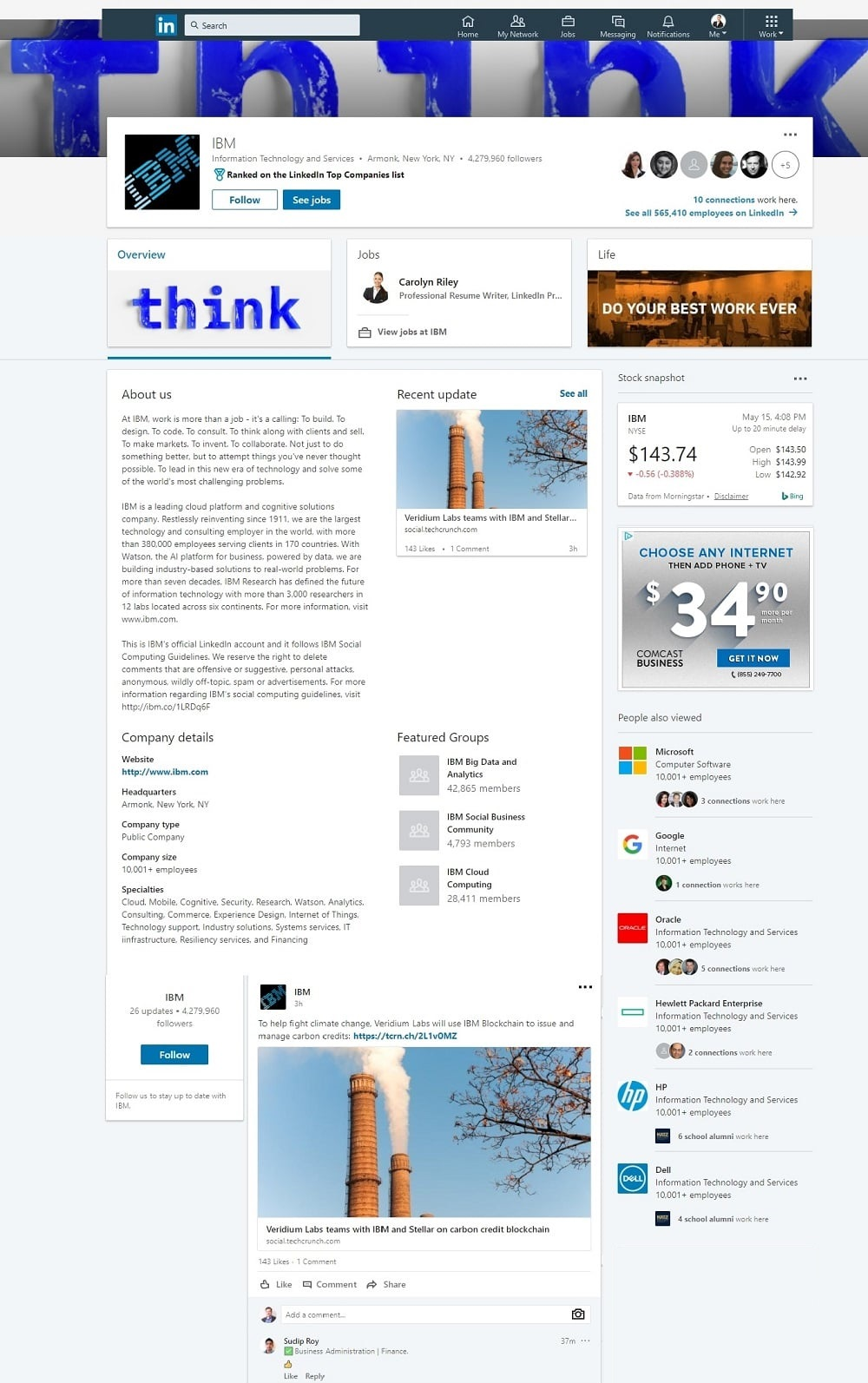 Linkedin Company Business Page Example 1000x1593