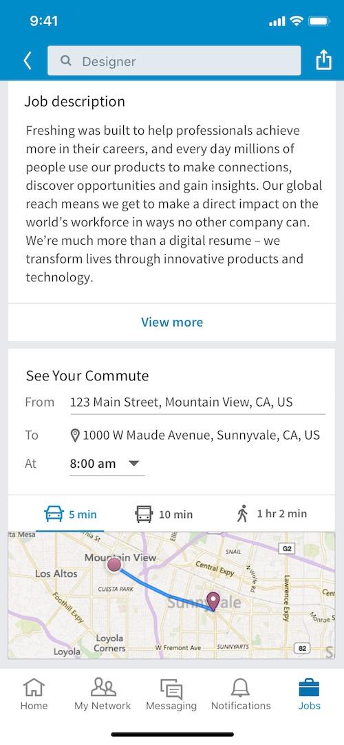 Linkedin How Set Commute Travel Distance Module1