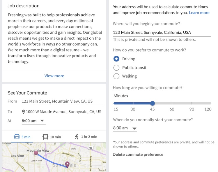 How to Change Commute Distance Settings in LinkedIn Jobs