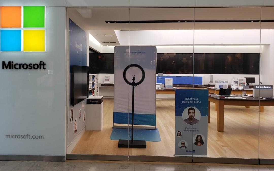 Get a Free LinkedIn Profile Headshot Photo at the Microsoft Store