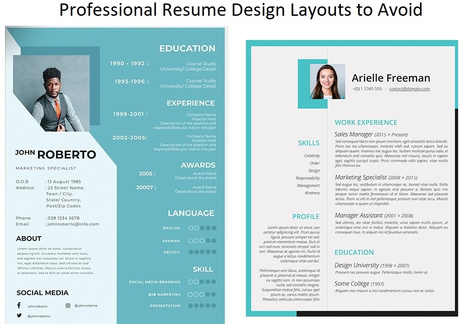 Professional Resume Design Layouts to Avoid in 2020